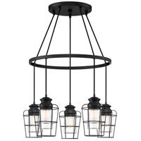 Quoizel OLN5005EK Olson 5 Light 25 inch Earth Black Chandelier Ceiling Light
