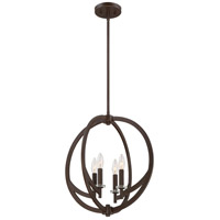 Orion 4 Light 18 inch Western Bronze Pendant Ceiling Light