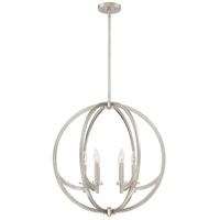 Orion 6 Light 24 inch Brushed Nickel Foyer Pendant Ceiling Light