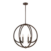 Quoizel ON2824WT Orion 6 Light 24 inch Western Bronze Foyer Pendant Ceiling Light