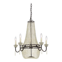 Quoizel OPA5005WT Opera 5 Light 23 inch Western Bronze Chandelier Ceiling Light in B10 Candelabra Base