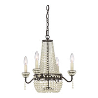 Quoizel OPA5304WT Opera 4 Light 17 inch Western Bronze Chandelier Ceiling Light in B10 Candelabra Base