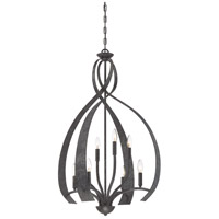 Quoizel OU5208OK Outlook 8 Light 24 inch Old Black Finish Foyer Chandelier Ceiling Light