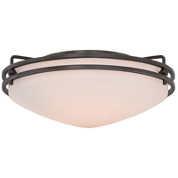 Ozark 2 Light 13 inch Palladian Bronze Flush Mount Ceiling Light in Etched Glass Painted White Inside