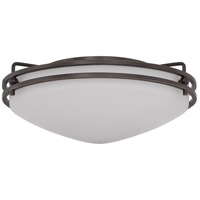Quoizel OZ1613PN Ozark 2 Light 13 inch Palladian Bronze Flush Mount Ceiling Light in Etched Glass Painted White Inside alternative photo thumbnail