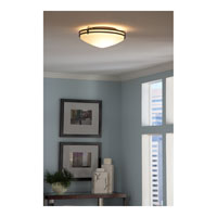 Quoizel OZ1616IN Ozark 3 Light 16 inch Iron Gate Flush Mount Ceiling Light in Opal Etched Glass alternative photo thumbnail