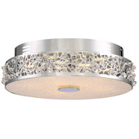 Platinum Amber Glow LED 15 inch Polished Chrome Flush Mount Ceiling Light