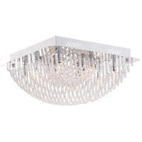 Platinum Adorn 10 Light 16 inch Polished Chrome Flush Mount Ceiling Light, Square