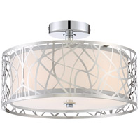Platinum Abode 3 Light 15 inch Polished Chrome Semi-Flush Mount Ceiling Light in A19 Medium Base