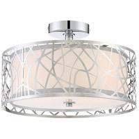 Quoizel PCAE1715C Platinum Abode 3 Light 15 inch Polished Chrome Semi-Flush Mount Ceiling Light