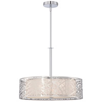 Platinum 3 Light 20 inch Polished Chrome Pendant Ceiling Light