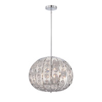 Quoizel Platinum Aura 4 Light Pendant in Polished Chrome PCAR2818C