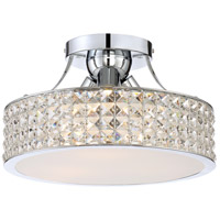 Quoizel PCAX1714C Platinum Alexa 3 Light 14 inch Polished Chrome Semi-Flush Mount Ceiling Light