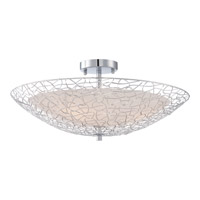 Quoizel Platinum Array 3 Light Semi-Flush Mount in Polished Chrome PCAY1722C