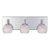 Platinum 3 Light 16 inch Polished Chrome Bath Light Wall Light