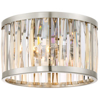 Platinum Ballet 2 Light 13 inch Brushed Nickel Flush Mount Ceiling Light