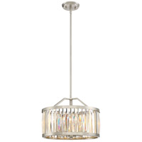 Platinum Ballet 4 Light 17 inch Brushed Nickel Pendant Ceiling Light