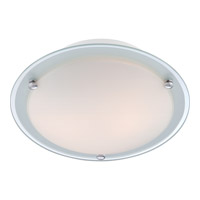 Quoizel Platinum Bravado 2 Light Flush Mount in Polished Chrome PCBV1613C