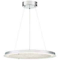 Quoizel PCBZ2820C Platinum Blaze LED 21 inch Polished Chrome Pendant Ceiling Light