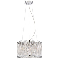 Platinum Crystal Cove 4 Light 14 inch Polished Chrome Pendant Ceiling Light