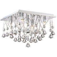 Quoizel PCCD1615C Platinum Crystal Drape 5 Light 15 inch Polished Chrome Flush Mount Ceiling Light