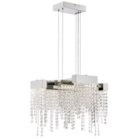 Quoizel PCCL2817PK Platinum Crystal Falls LED 19 inch Polished Nickel Pendant Ceiling Light