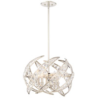 Platinum Crescent 4 Light 18 inch Polished Nickel Pendant Ceiling Light