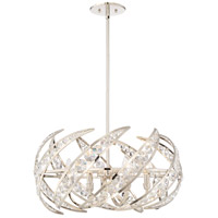 Platinum Crescent 6 Light 25 inch Polished Nickel Pendant Ceiling Light
