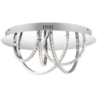Diamond LED 18 inch Polished Chrome Flush Mount Ceiling Light