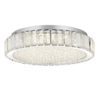 Quoizel PCDV1616C Divine LED 14 inch Polished Chrome Flush Mount Ceiling Light