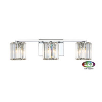 Platinum Divine LED 23 inch Polished Chrome Bath Light Wall Light in Frosted LED G9
