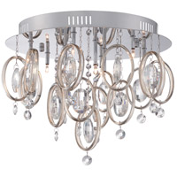 Platinum 9 Light 17 inch Polished Chrome Flush Mount Ceiling Light
