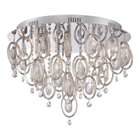 Platinum 18 Light 23 inch Polished Chrome Flush Mount Ceiling Light