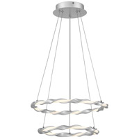 Quoizel PCFN1716DSL Finale LED 16 inch Dipped Silver Semi-Flush Mount Ceiling Light