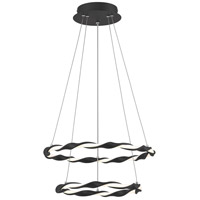 Quoizel PCFN1716EK Finale LED 16 inch Earth Black Semi-Flush Mount Ceiling Light