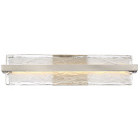 Quoizel Platinum Glacial LED Bath Light in Brushed Nickel PCGL8522BN