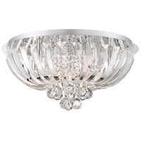 Platinum Glisten 6 Light 20 inch Polished Chrome Flush Mount Ceiling Light