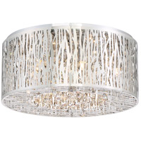 Platinum Grotto 6 Light 16 inch Polished Chrome Flush Mount Ceiling Light