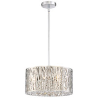 Platinum Grotto 6 Light 16 inch Polished Chrome Semi-Flush Mount Ceiling Light