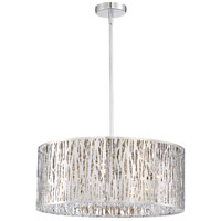 Platinum Grotto 8 Light 22 inch Polished Chrome Semi-Flush Mount Ceiling Light