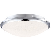 Platinum Glimmer LED 13 inch Polished Chrome Flush Mount Ceiling Light