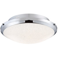 Platinum Glimmer LED 17 inch Polished Chrome Flush Mount Ceiling Light