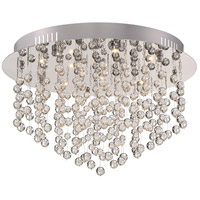 Platinum LED 16 inch Polished Chrome Flush Mount Ceiling Light