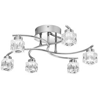 Clear Hollow LED 19 inch Polished Chrome Flush Mount Ceiling Light