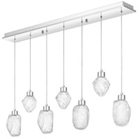 Hailstone LED 42 inch Polished Chrome Island Chandelier Ceiling Light