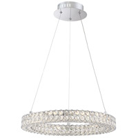 Platinum Infinity 20 inch Polished Chrome Pendant Ceiling Light