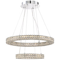 Platinum Infinity LED 28 inch Polished Chrome Pendant Ceiling Light