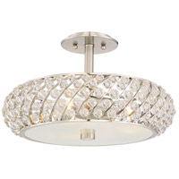 Platinum Legion 3 Light 17 inch Brushed Nickel Semi-Flush Mount Ceiling Light