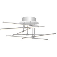 Platinum Lightshow LED 22 inch Polished Chrome Semi-Flush Mount Ceiling Light
