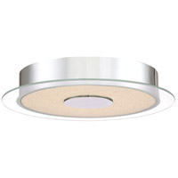 Platinum Moonlit LED 14 inch Polished Chrome Flush Mount Ceiling Light